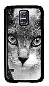 Diy Fashion Case for Samsung Galaxy S5,Black Plastic Case Shell for Samsung Galaxy S5 i9600 with Gata Clio