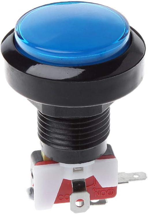 WT-DDJJK Botón de la Sala de Juegos, Nuevo botón de la Sala de Juegos del Empuje de 45m m Máquina expendedora Redonda del microinterruptor LED del Poder 12V LED
