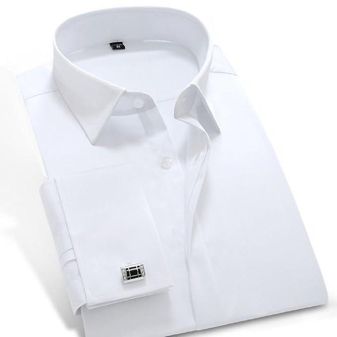 748ea8e6cde Amazon.com  sweattang New Mens Formal Italian Designer French Cuff Dress  Shirts (Cufflink Included)  Clothing