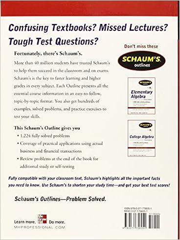 Schaum's Outline of Mathematics of Finance, Second Edition ...