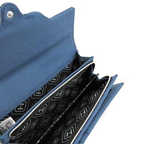 Große geldbörse tasche 'Hedgren'blau.