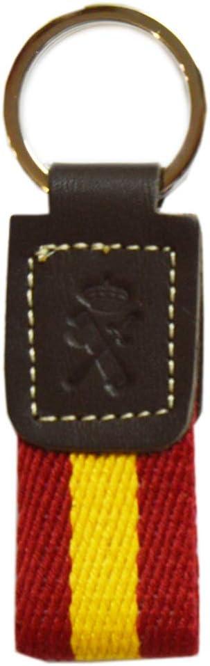 Llavero Guardia Civil. Tira Loneta Bandera de España. Med. 10 cm.: Amazon.es: Equipaje