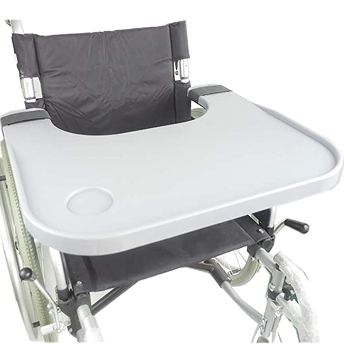 Amazon.com: Bandeja para silla de ruedas con soporte de taza ...
