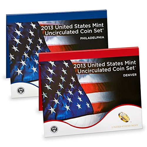 2013 US Mint Uncirculated 28-Coin Set With Burnished Dollars