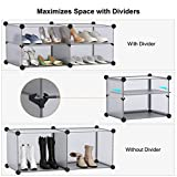 LANGRIA 15-Cube Shoe Rack DIY Organizer Units with