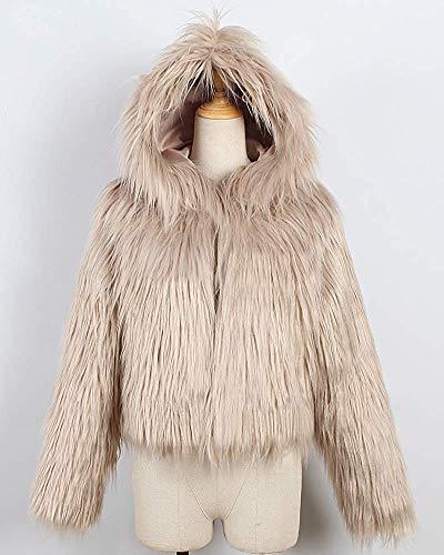 Manteau Pour Gris Kaki Capuche coloré Court Femmes En Fausse À Xxl Fourrure Oudan Taille p0qwFdUq