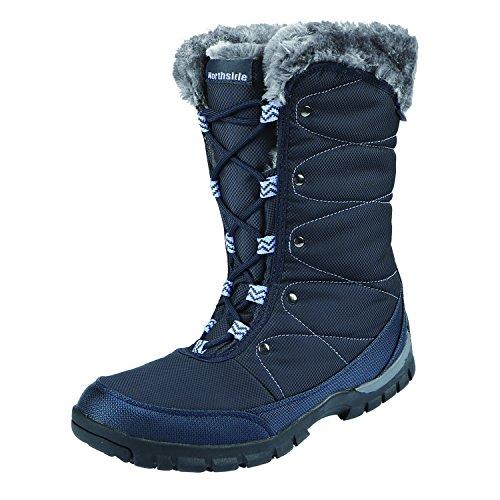 (Northside Women's BRECKLIN Snow Boot, Navy, 6 M US)