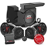 2014 To 2017 Polaris RZR XP 1000 Bluetooth Enabled Four Speaker, Dual Amplifier, And Single Subwoofer Audio System By MTX Audio RZRBT4