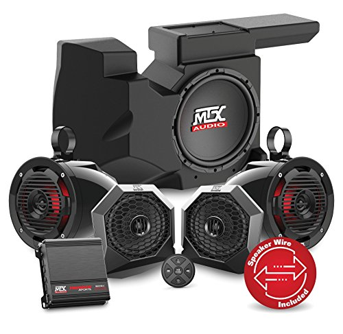2016 to 2017 Polaris RZR XP4 Turbo Bluetooth Enabled Four Speaker, Dual Amplifier, and Single Subwoofer Audio System By MTX Audio RZRBT4 by MTX Audio