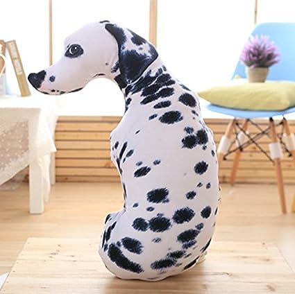 BAONZEN Divertido Perro Cama Almohada Linda Chica durmiendo Dormitorio Almohada Grande 3D Husky Perro Cabeza muñeca