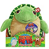 Pop Out Pets Ocean, Reversible Plush Toy, Get 3 Stuffed Animals in One - Turtle, Dolphin & Walrus, 8 in.