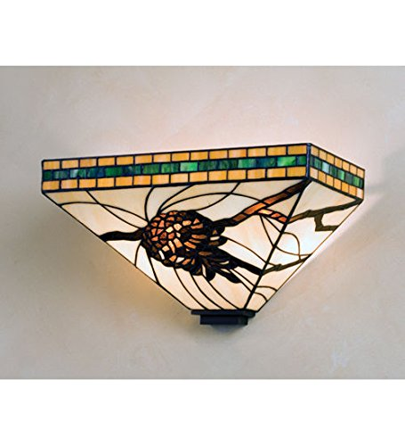 (Stained Glass Tiffany Style L Honey Pine Branch Wall Sconce)