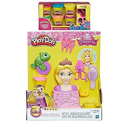 PD Play Doh Royal Salon Featuring Disney Princess Rapunzel + Play-Doh Sparkle Compound Bundle: Toys & Games