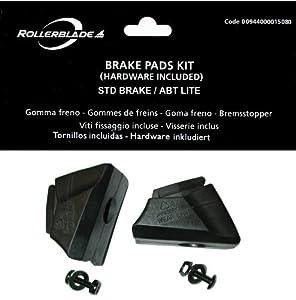 Rollerblade Rollen Brake Pad STD 2 PCS, Schwarz, One Size, 09207400 001