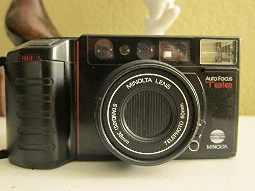 Digital Shoot Film Camera And Point (Minolta AF-Tele 35mm Film Camera Auto Focus Tele Camera w/ Minolta Lens Standard 38mm Lens Telephoto 60mm Lens Camera (Black Color 35mm Film Camera))