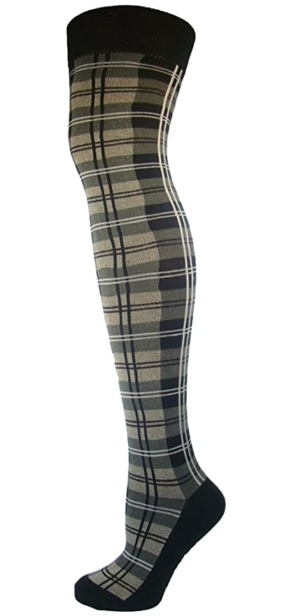 Steampunk Tights  & Socks Plaid Colourful Everyday Socks $10.00 AT vintagedancer.com