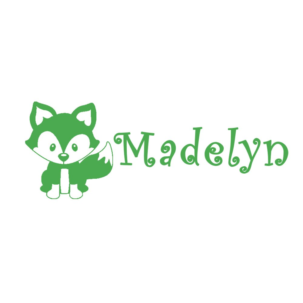 Rubber Stamp Kids Stamp Naming Stamp Wooden Handle Fox Stamp Customized with Name School Book Label Name Personalized Name Self Inking Stamp Children/'s Signature Stamper Custom Stylish Font
