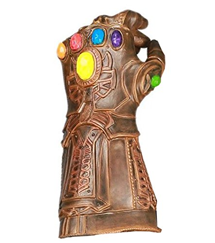 xcoser Thanos Gauntlet Durable Latex Glove Mens Cosplay Costume Accessory (Easy Male Cosplay Costumes)
