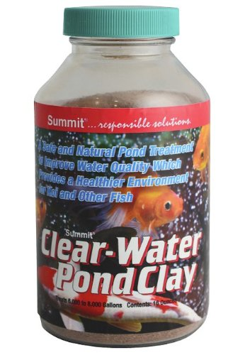 Summit 137 Clear-Water Pond Clay, 1-Pound Treats 6000-8000-Gallon -