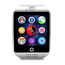 Smart Watch- Fashion Sports Smart Watch Card Call Phone Surface Screen Can Synchronize Android Bluetooth Mobile Phone Smart Watch (Color : White)