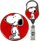 Snoopy and Woodstock Inspired Real Charming Premium Decorative Badge Holder (Snoopy Metal Carabiner)