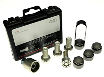 Audi 4 F0071455 pernos para rueda con antirrobo, M14 x 1,5 x 27: Amazon.es: Coche y moto