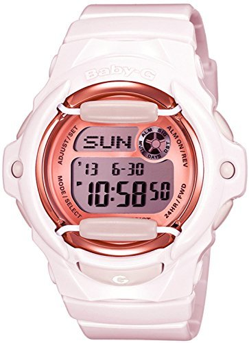 Casio Baby-G Face Protector Baby Pink Rose Tone Watch Digital BG169G-4B