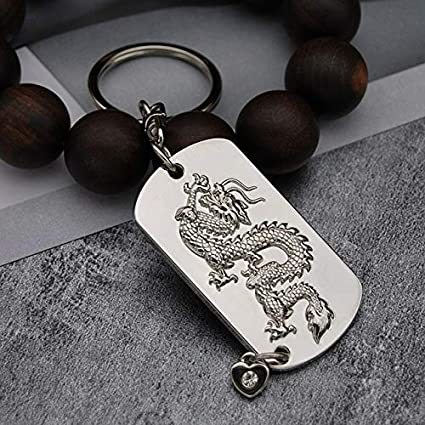 Amazon.com : Occus Dragon Keychain Key Ring Chinese Style ...