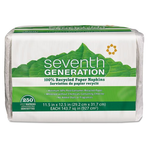 SEV13713CT - Seventh Generation 100% Recycled Napkins - (Seventh Generation Recycled Napkins)