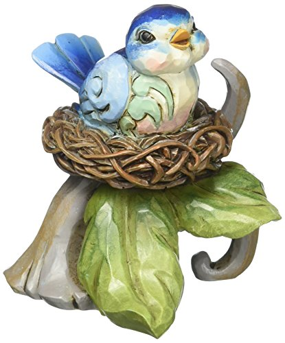 "Department 56 Jim Shore Heartwood Creek Mini Bluebird in Nest Stone Resin Figurine, 3"" ()"