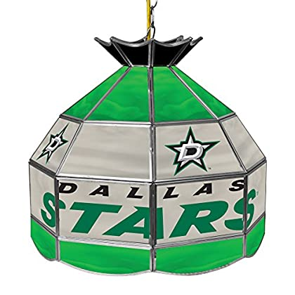 Image of Billiard Lighting Trademark Gameroom NHL Dallas Stars 16' Handmade Tiffany Style Lamp