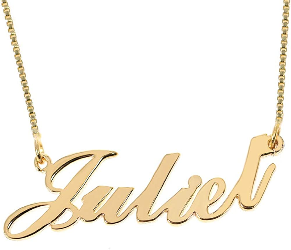 Name Necklace Michelle 18K Gold PlatedJewelry Nekless Designer Bridal Gifts