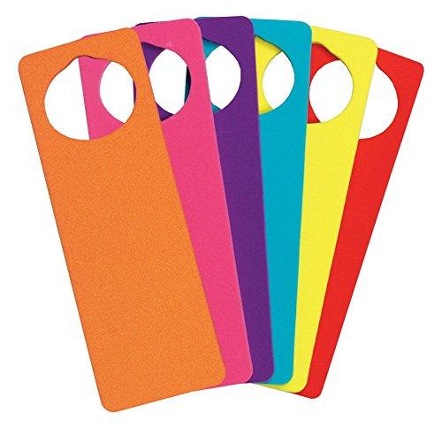 (Creativity Street 4379 WonderFoam Door Knob Hangers, Six Assorted Colors (CKC4379))