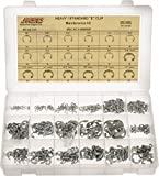 565 Piece, 1/8 to 3/4'', Steel, E Style External Retaining Ring Assortment