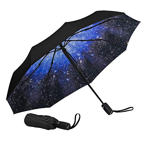 Repel Windproof Travel Umbrella with Teflon Coating (Starry Night)