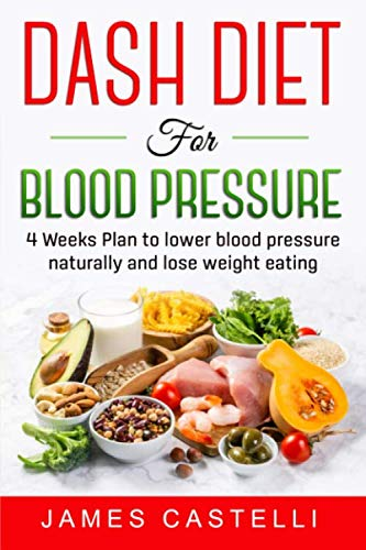 Dash Diet for Blood Pressure: 4 Weeks Plan to Lower Blood Pressure Naturally and Lose Weight Eating
