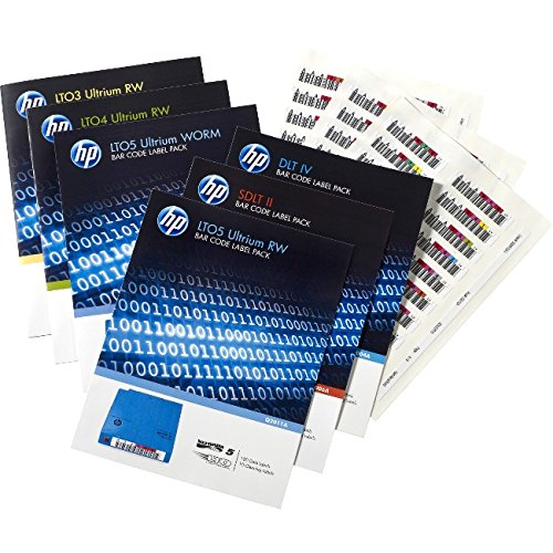 Label Pack Barcode Labels (HP LTO-6 Ultrium RW Bar Code Label Pack)