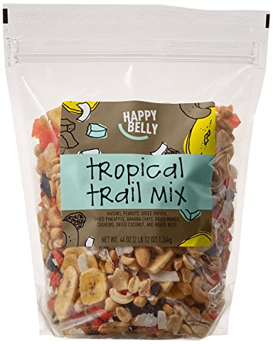 (Amazon Brand - Happy Belly Amazon Brand Tropical Trail Mix, 44 ounce)