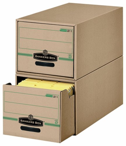 Bankers Box Stor/Drawer 100% Recycled Storage Drawers, Letter, 6 Pack (00211) by Bankers Box