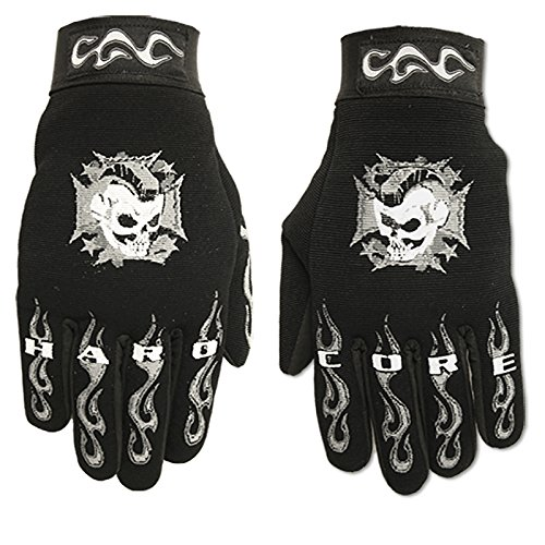 Hot Leathers Hardcore Mohawk Mechanic Gloves (Black, Large)