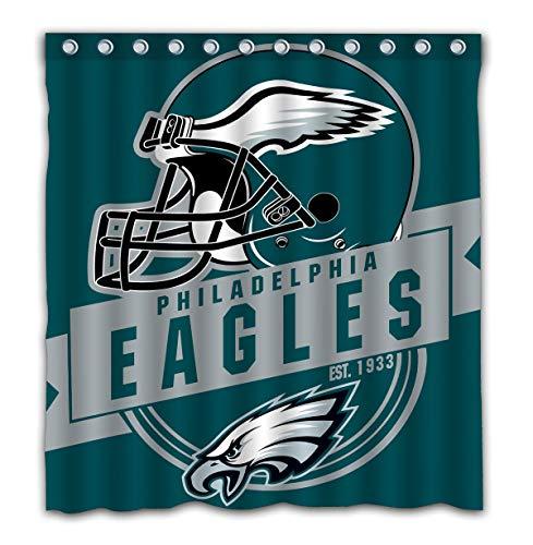 Felikey Custom Philadelphia Eagles Waterproof Shower Curtain Colorful Bathroom Decor Size 66x72 Inches