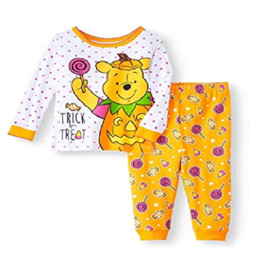 Winnie The Pooh Baby Girl's Glow-in-The-Dark Halloween Pajama Set