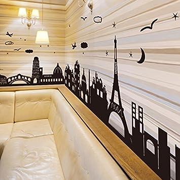 Wjy Sweet Home Papier Fur Wandplakate Fries Poster Gebaude Im