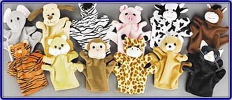 1 Dozen Velour Animal Hand Puppets Kids TOY Preschool Kindergarten
