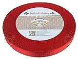 Country Brook Design 1 Inch Red Climbing Spec Tubular Nylon Webbing, 100 Yards