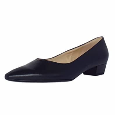 fc8693ac940 Peter Kaiser Limba Pointed Toe Low Heel Court Shoes in Navy Leather 3 Navy