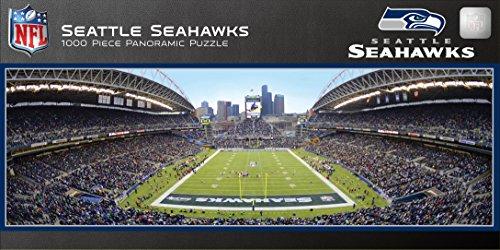 MasterPieces NFL Seattle Seahawks Stadium Panoramic Jigsaw Puzzle, - 1000 Piece Kids Puzzle