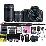 Canon EOS Rebel SL2 24.2 MP DSLR Camera (Wi-Fi) Body, Canon EF-S 18-55mm 4-5.6 IS STM Lens, Canon EF-S 55-250mm 4-5.6 IS STM Lens w/Deluxe Camera Works Accessory Bundle & 32GB High-Speed Memory Card