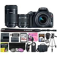 [Patrocinado] Canon EOS Rebel SL2–Cuerpo de la cámara SLR digital (WiFi habilitado) con cámara funciona Premium solución de limpieza y 32GB tarjeta de memoria de alta velocidad