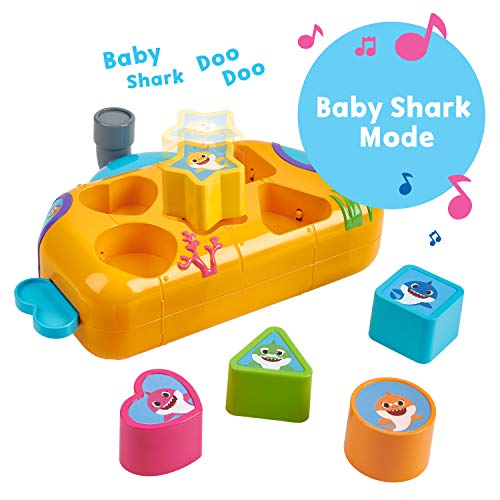 51QshRokOhL - WowWee Pinkfong Baby Shark Melody Shape Sorter - Preschool Toy